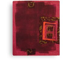 Magenta Chine Colle No. 1 Canvas Print