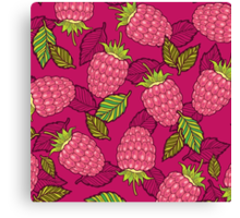 Pink raspberries Canvas Print