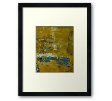 Ochre and Blue No 5 Framed Print