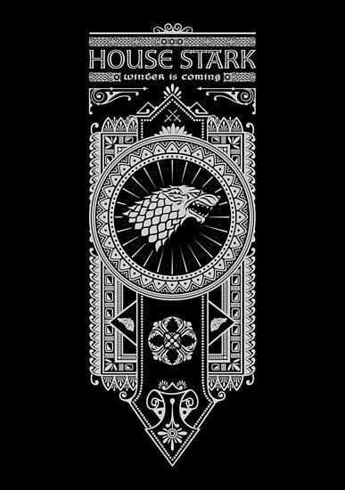 House Stark (White) by Olipop