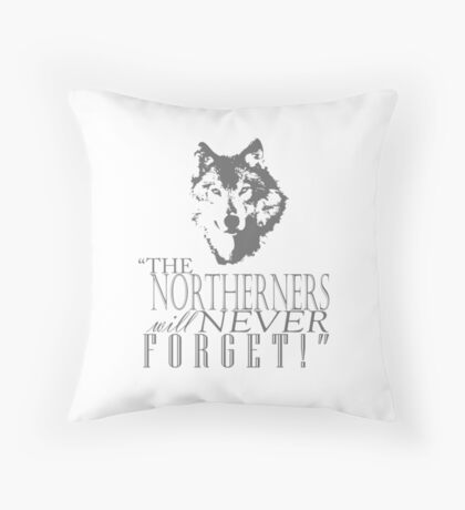 King in the North! Throw Pillow