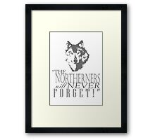King in the North! Framed Print