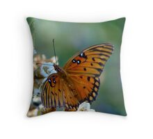 Introducing Mrs. Fritillary Throw Pillow