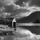 Boathouse, Llyn Cregennen by Hywel Harris