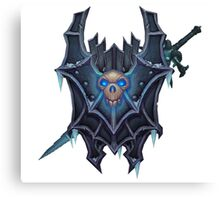 Frostmourne Shield & Sword Canvas Print