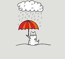Umbrella Cat Womens Fitted T-Shirt