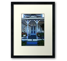 On the Porch of a Gingerbread House Framed Print