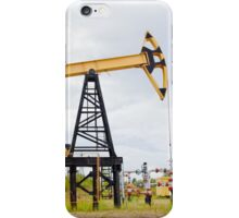 Pump jack and oil well. iPhone Case/Skin