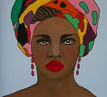 African woman in head scarf by kreativekate