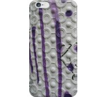 Graffiti on a textured white wall iPhone Case/Skin