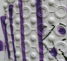 Graffiti on a textured white wall Sticker