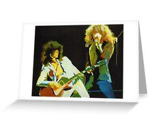 Just the Best. Robert Plant and Jimmy Page  Greeting Card