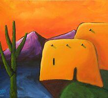 Orange Sky Adobe 2 by Dean Williamson