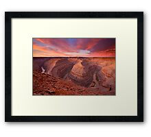 The Curves of Dawn Framed Print
