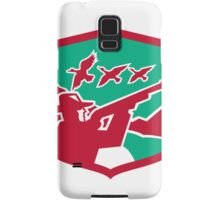 Hunter Aiming Shooting Ducks Shield Retro Samsung Galaxy Case/Skin