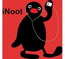 iNoot - Pingu iPod Silhouette Photographic Print