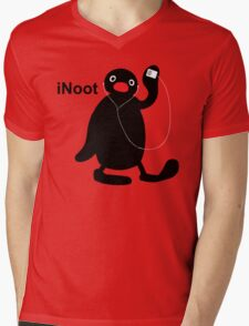 iNoot - Pingu iPod Silhouette Mens V-Neck T-Shirt