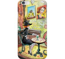 The Lautrec Girl In A Ruin Bar In Budapest iPhone Case/Skin