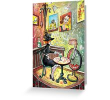 The Lautrec Girl In A Ruin Bar In Budapest Greeting Card