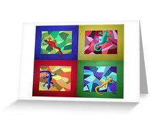 Lizard Dance Greeting Card