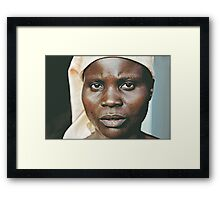 'Portrait of war' Southern Democratic Republic of Congo Framed Print
