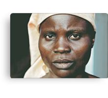 'Portrait of war' Southern Democratic Republic of Congo Canvas Print