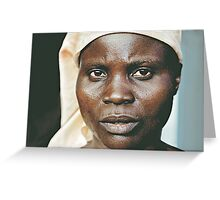 'Portrait of war' Southern Democratic Republic of Congo Greeting Card