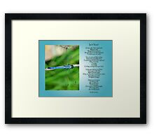 For Mark, an American soldier, who gave his life in Iraq Framed Print