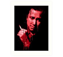 Bill Hicks (red) Art Print