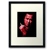 Bill Hicks (red) Framed Print