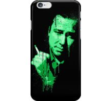 Bill Hicks (green) iPhone Case/Skin