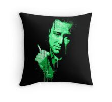 Bill Hicks (green) Throw Pillow