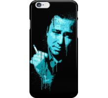 Bill Hicks (blue) iPhone Case/Skin