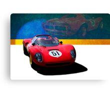 1966 Ferrari SP206 Replica Canvas Print