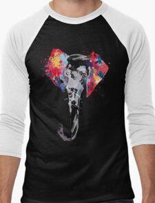 Elephant Art Men's Baseball ¾ T-Shirt