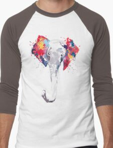 Elephant Art Men's Baseball ¾ T-Shirt