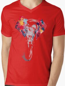 Elephant Art Mens V-Neck T-Shirt