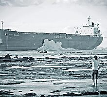 Pasha Bulker stranded by Nathan T