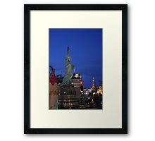 Vegas Strip: New York-NewYork Framed Print