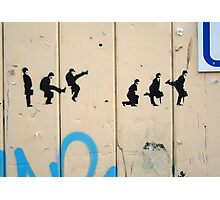 Silly Walk graffiti  Photographic Print