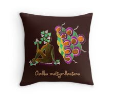 Ardha Matsyendrasana Throw Pillow