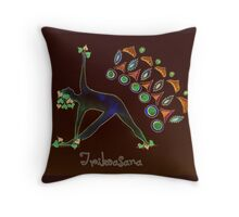 Trikoasana Throw Pillow