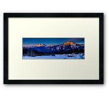 Winter sunrise mount Begbie  Framed Print