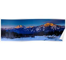Winter sunrise mount Begbie  Poster