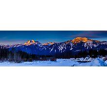 Winter sunrise mount Begbie  Photographic Print