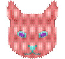 Knitted cat Photographic Print