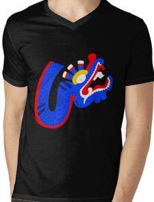 Aztec blue dragon Mens V-Neck T-Shirt