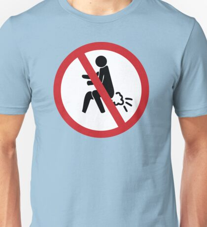 NO Farting Sign Unisex T-Shirt