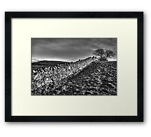 Irish Stone Wall Framed Print