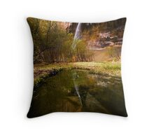 Lower Calf Creek Falls Throw Pillow